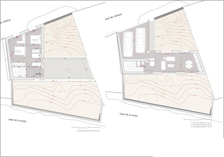 Planos de casas de una planta Zafra