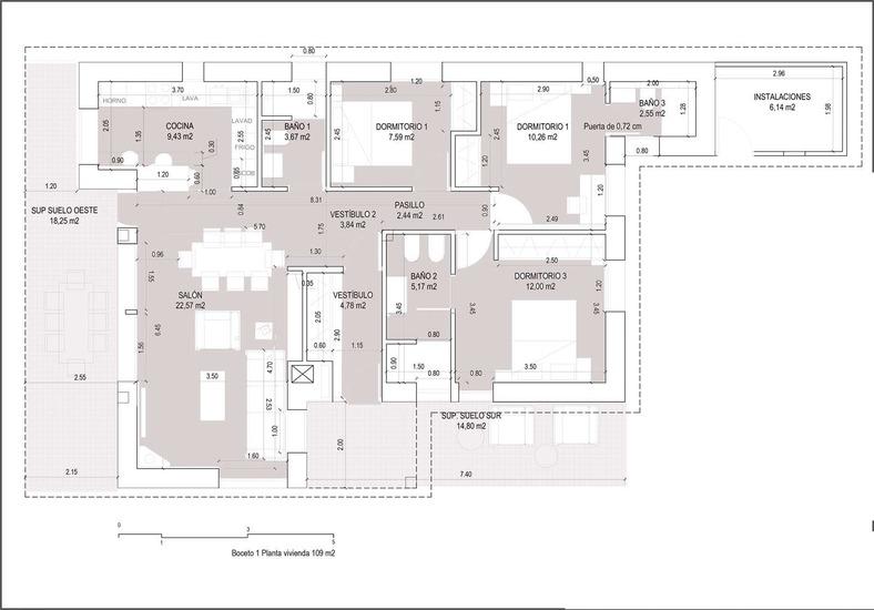 Planos de casas de una planta Torrejoncillo