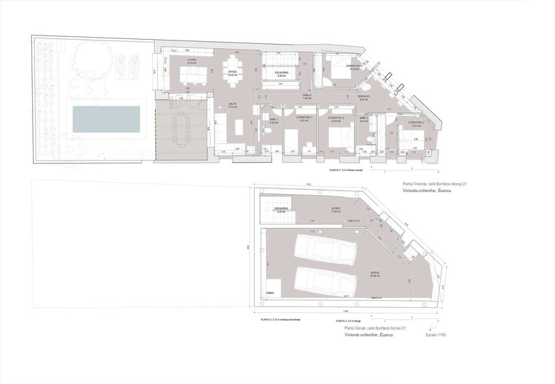 Planos de casas de una planta Tiradores