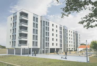 Construcción de un bloque de viviendas en Cuenca